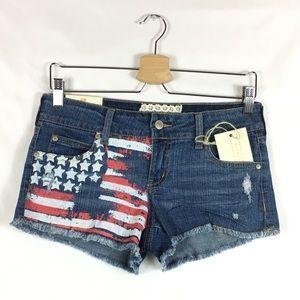 Altar'd State American Flag Denim Shorts